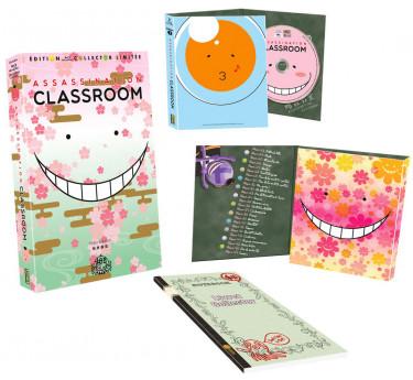 DVD & Blu-ray manga Assassination Classroom - Intégrale Collector Limitée - Coffret A4 Blu-ray + Artbook